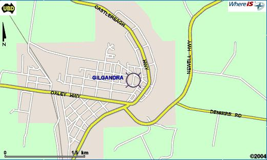 whereis map view of gilgandra.