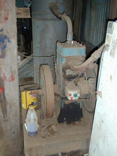the old motor, that ran the shearing gear ...