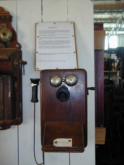 an old party telephone, in the museum in gil.
